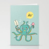 Octopus Friend Stationery Cards