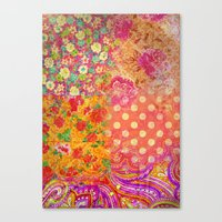 Retro patterns Canvas Print