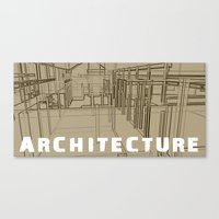 Architecture - Beige Canvas Print