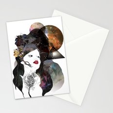 of Hearts and Constellations Stationery Cards