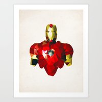Polygon Heroes - Iron Ma… Art Print
