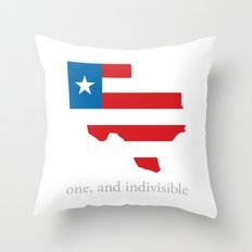 7th Flag of Texas Throw Pillow