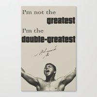 Muhammad Ali #1 (B/W) Canvas Print