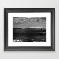 Surf Crab Framed Art Print