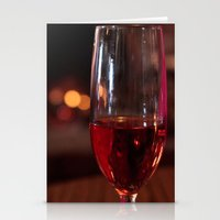 Wine Glass Stationery Cards