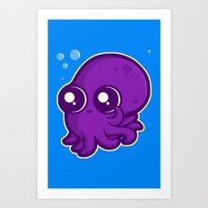 Super Cute Squid Art Print