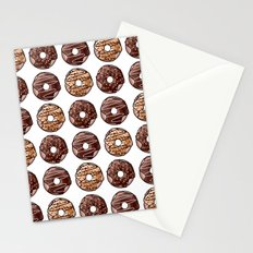 Chocolate Donuts Pattern Stationery Cards