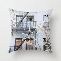 New York City Architecture Photography, New York Art, Brooklyn Prints, NYC Wall Art, Urban Nature Pr Throw Pillow