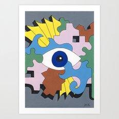 Patterned Eyes   The Left Eye 1/2 Art Print