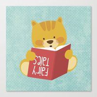 Fairy Tales, Teddy Bear Canvas Print
