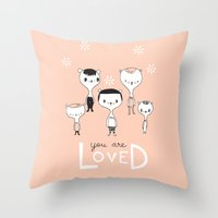 You Are Loved - Pink Throw Pillow