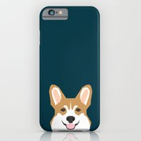 iPhone Cases featuring Teagan - Corgi Welsh Corgi gift phone case design for pet lovers and dog people by PetFriendly
