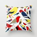 The birds from the colorful world Throw Pillow