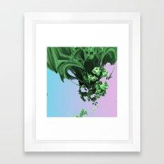 Dropping In (3D Digital Fractal Art) Framed Art Print