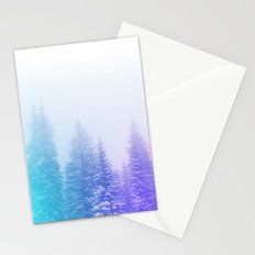Blue and Purple Pines Stationery Cards