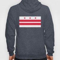 Washington D.C Flag, authentic version Hoody