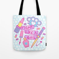 Girl Fighter Tote Bag