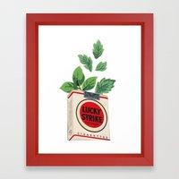 Lucky Leaves Framed Art Print