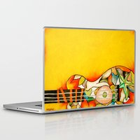 guitar Laptop & iPad Skins featuring Guitar  by Alexa Brooke Rutledge