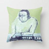 train keeper Throw Pillow