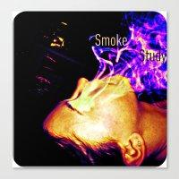 Smoke Study Canvas Print