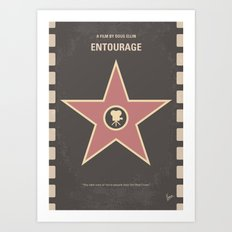No525 My Entourage minimal movie poster Art Print