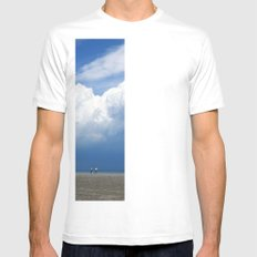 Beach Mens Fitted Tee SMALL White