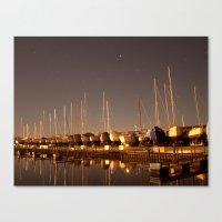 The Docks at Night Canvas Print