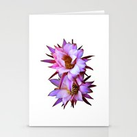 Purple cactus blossom Stationery Cards