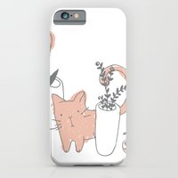 iPhone & iPod Case featuring Fatty cat by Laura Gómez