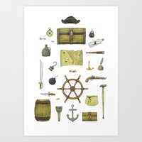 Pirated Art Print
