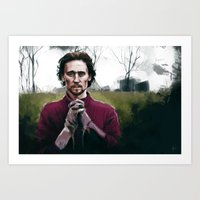 Henry V praying Art Print