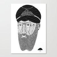 Sikh Guru with Fully Sick Beard and Bejeweled Turban Canvas Print