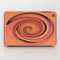 Peach Twirl iPad Case