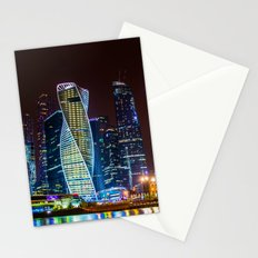 the bright lights of the city Stationery Cards