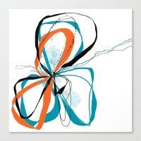 Aqua Bloom Canvas Print