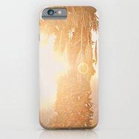 California Fine Art Print Yellow, Peach, Cream La Quinta Palm Tree Photograph - Desert Sunset  iPhone 6 Slim Case