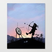 Hawkeye Kid Canvas Print