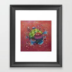 the furnitured planet  Framed Art Print