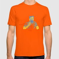 Aesop Rock Mens Fitted Tee Orange SMALL