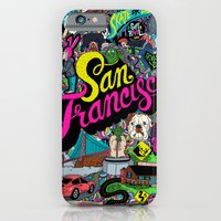 san francisco iPhone & iPod Cases featuring San Francisco by Chris Piascik