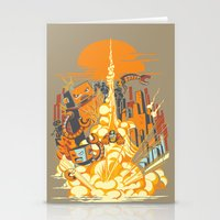 Smash! Zap!! Zooom!! - Butt-Chinned Captain Stationery Cards