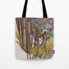 Alice in Wonderland - Strange Dreams / Original A4 Illustration / Ink & Watercolor Tote Bag