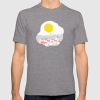 Breakfast Day  Mens Fitted Tee Tri-Grey SMALL
