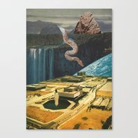 Snake In The Grass (with… Canvas Print
