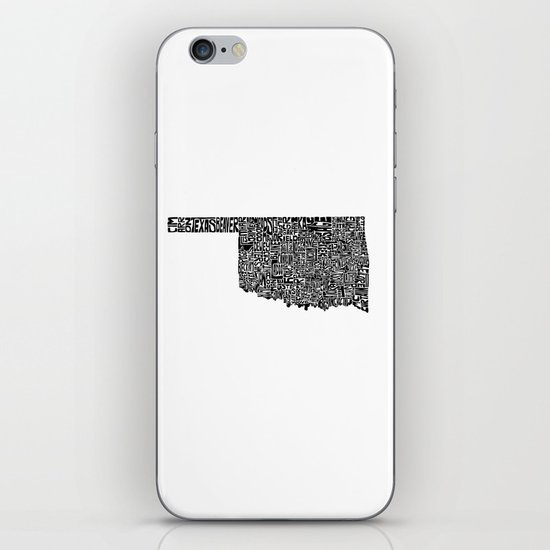 Typographic Oklahoma iPhone & iPod Skin