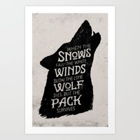 The Pack Survives Art Print