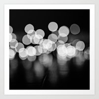 Lights In Black And Whit… Art Print