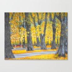 Golden park Canvas Print