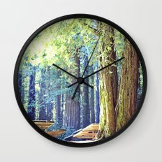 Picnic in the Woods Wall Clock